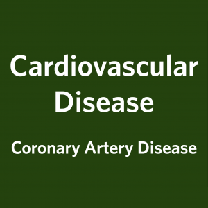 Cardiovascular Disease, Coronary Artery Disease: Master Table